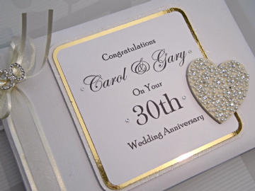 Pearl Wedding Anniversary Guest Book